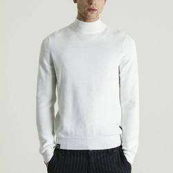 Solid Color  Slim Elastic Thin Pullover Men Turtleneck Sweater Knitting Spring Autumn Turtleneck Men Clothing Wholesale
