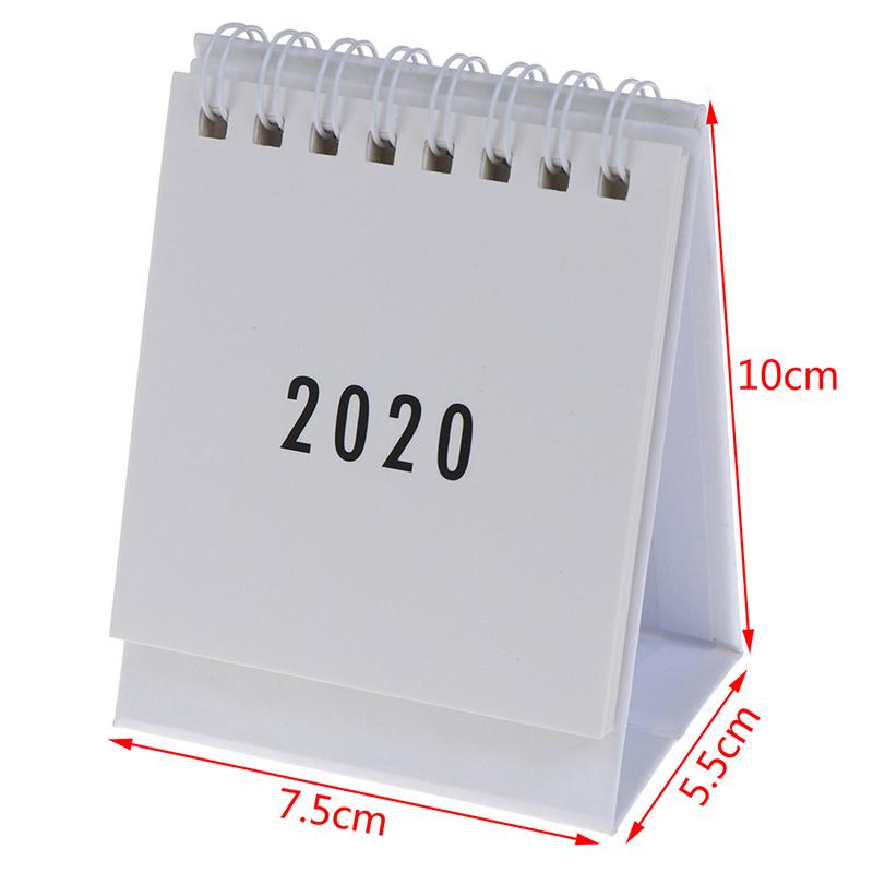 Лидер продаж, 1 шт., 2020, свежий бумажный календарь с мультяшными животными, двойной ежедневный планировщик, настольный планировщик, ежедневн...(Китай)
