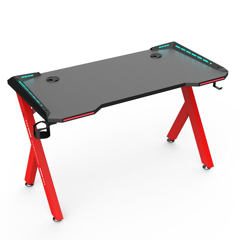 Ergonomic gaming computer desk PC LED gaming desk custom computer table