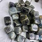 Natural Labradorite Crystals Healing Stones Wholesale Natural Labradorite Cubed Tumbles Crystals Healing Gravels Stones For Feng Shui