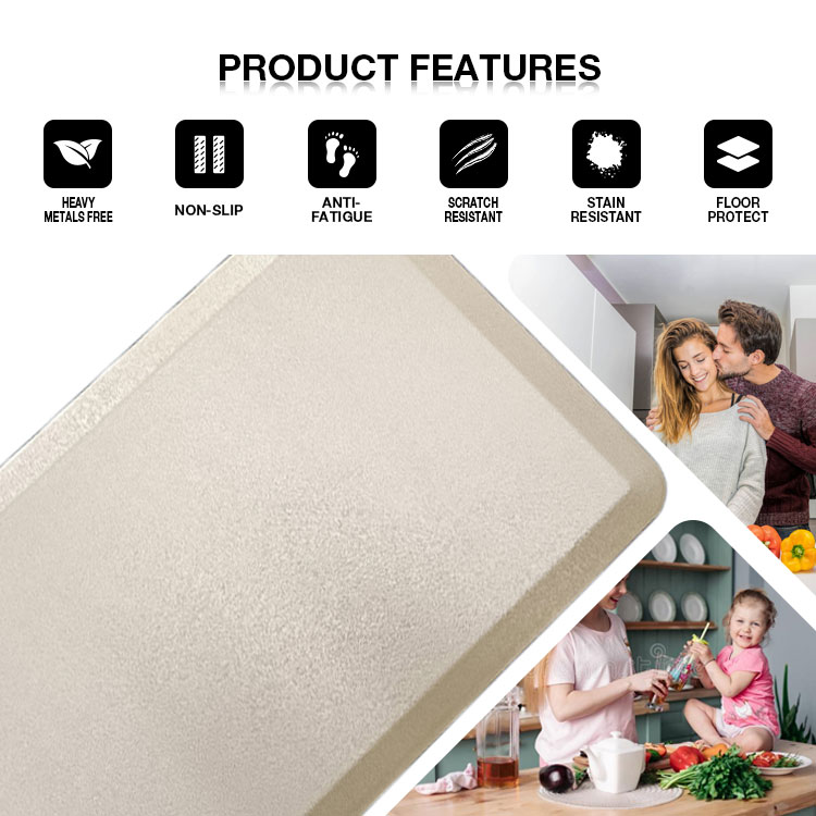 Sheepmats printed pvc PU foam nonslip Antifatigue Comfort Anti fatigue standing kitchen Floor Mat Xiamen