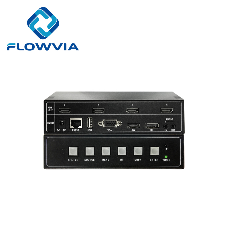 Настенный видеоконтроллер 2x2 1X2 1X3 1X4 4K VGA TV настенный видеопроцессор