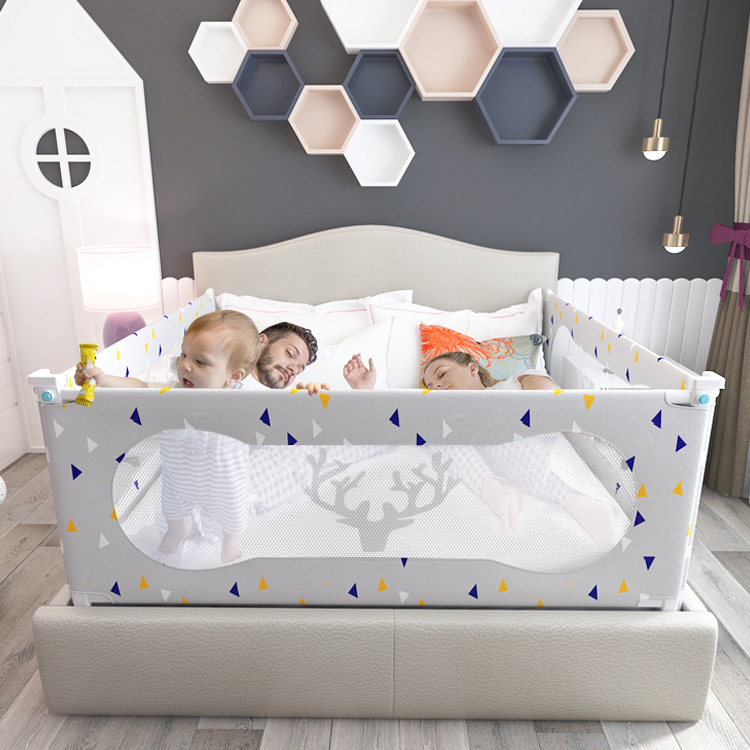 Hot sale safety baby bed guard anti-fall fence adjustbale bed rail for kids