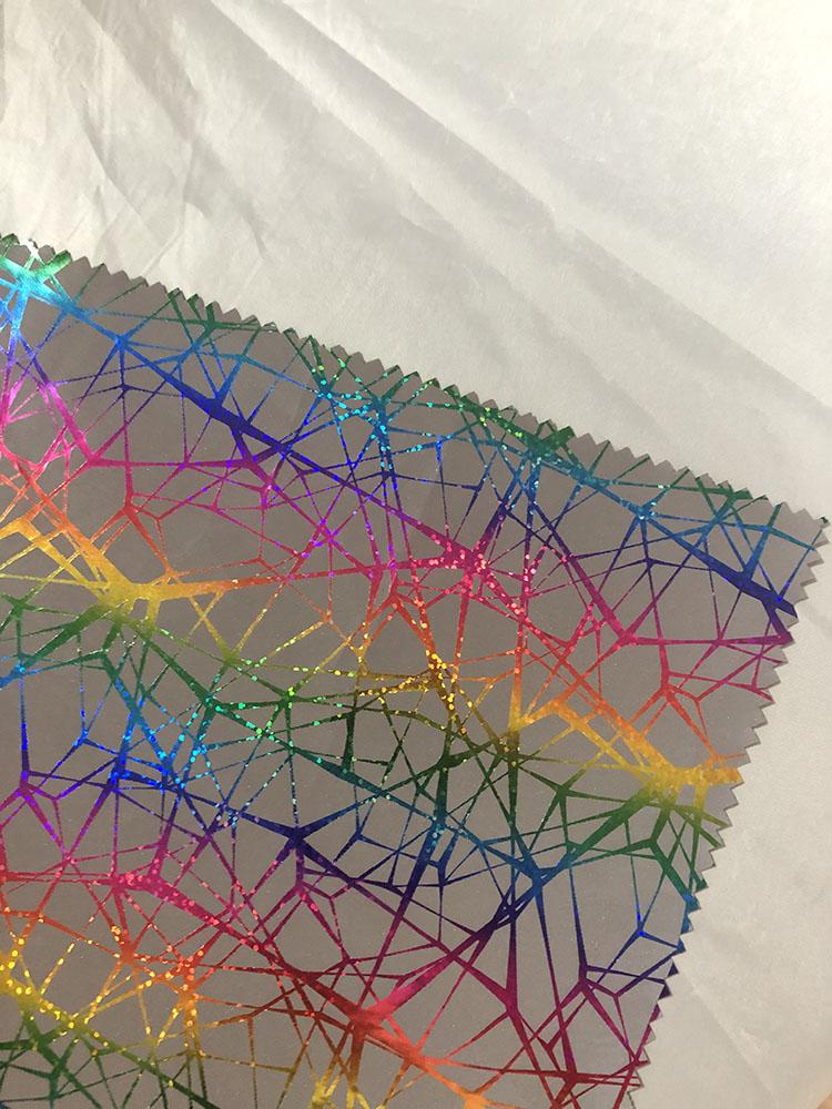 Ткань из полиэстера с принтом, белая отражающая майларовая ткань, отражающая ткань для одежды