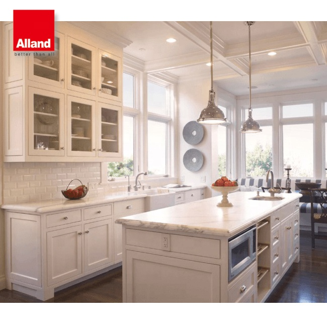 French Style White Shaker Door Panel Kitchen Cabinet Buy Product On Alibaba Com