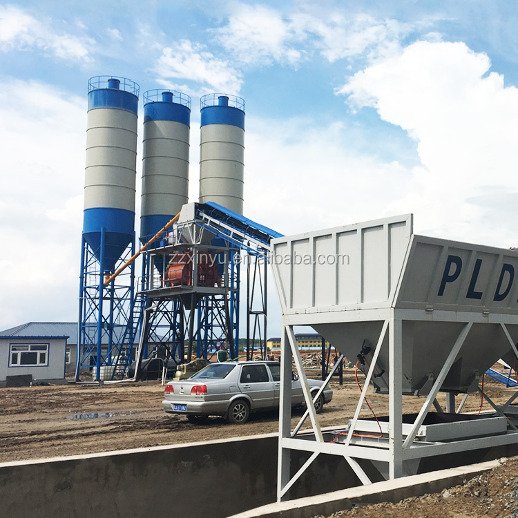 Factory direct hzs60 beton batching plant ready mix concrete