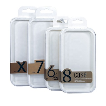 Fast delivery plastic transparent spot phone case packaging box clear acrylic box in stock