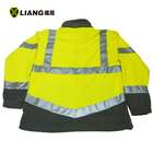 Coat High Visibility Fleece Jacket Two-tone Fleece Winter Gear Elasticated Cuffs Reflective Coat Winter Safety Clothing Safety Jacket