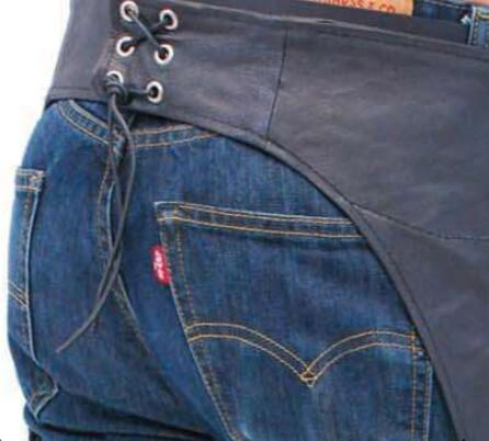 High quality horse equipment mens leather chaps