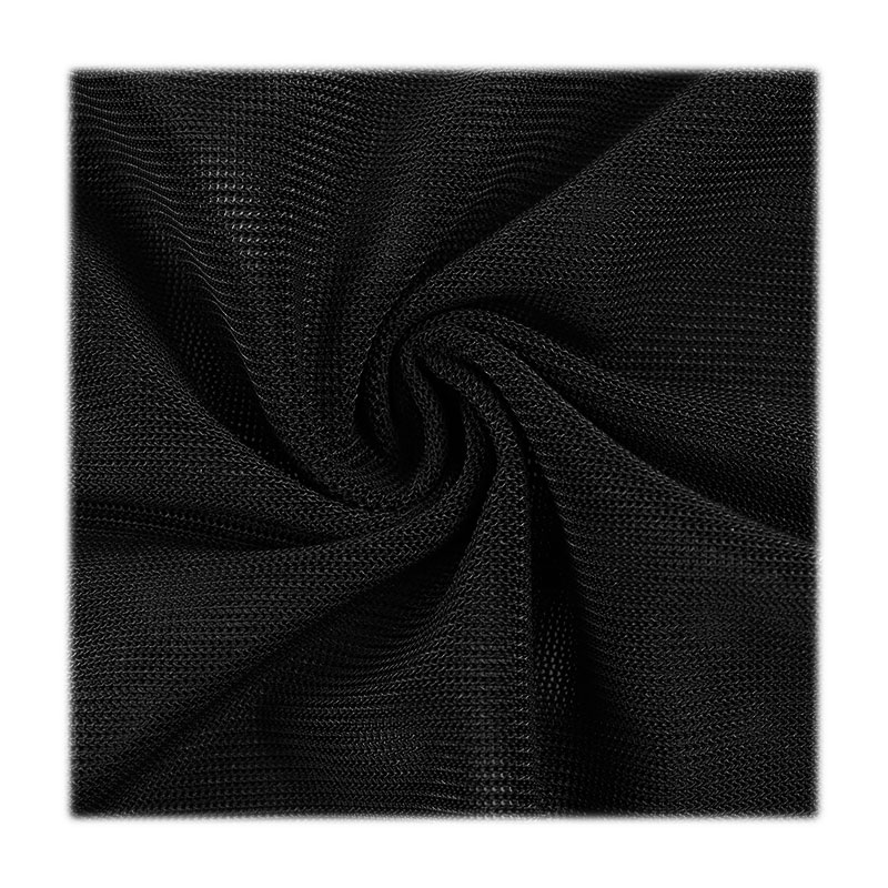 Knitted fabric blended with spandex and polyester hexagonal mesh fabric sexy underwear  customized quick-drying mesh fabric