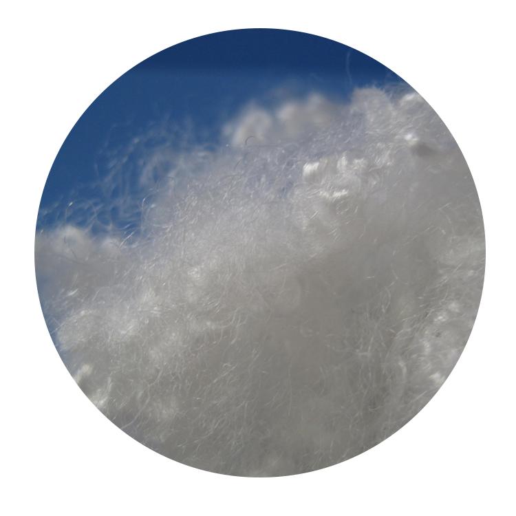 Переработанные 100% полиэфирные волоконные заполняющие материалы 7dx64 мм