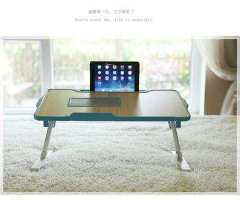 Multifunctional simple adjustable wooden small laptop table stand kids study desk portable folding laptop bed table
