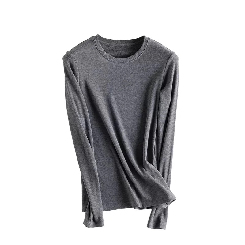 New mulberry silk thermal underwear brushed base wear top clothing fall winter