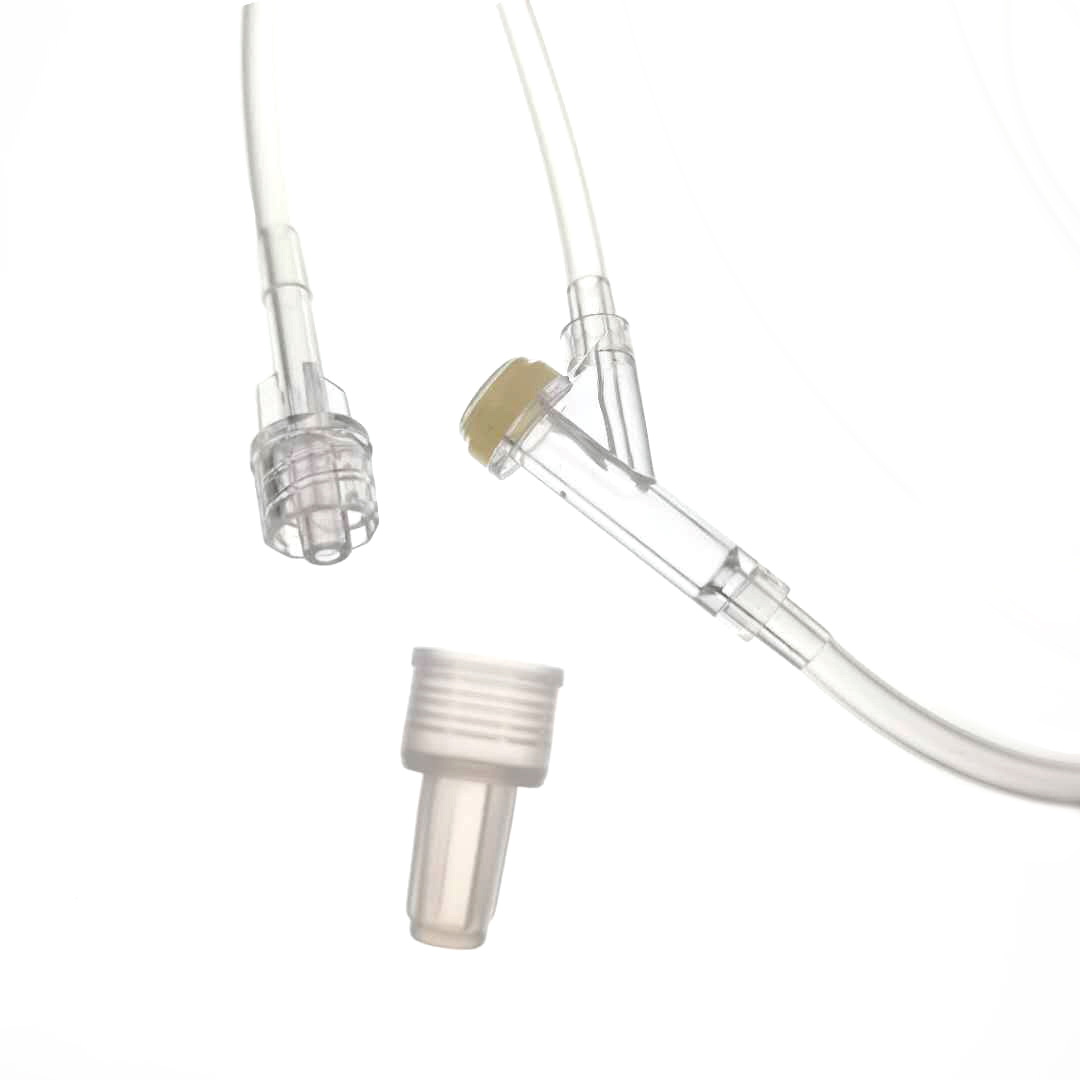 Disposable Infusion Set with micro regulator y site IV set