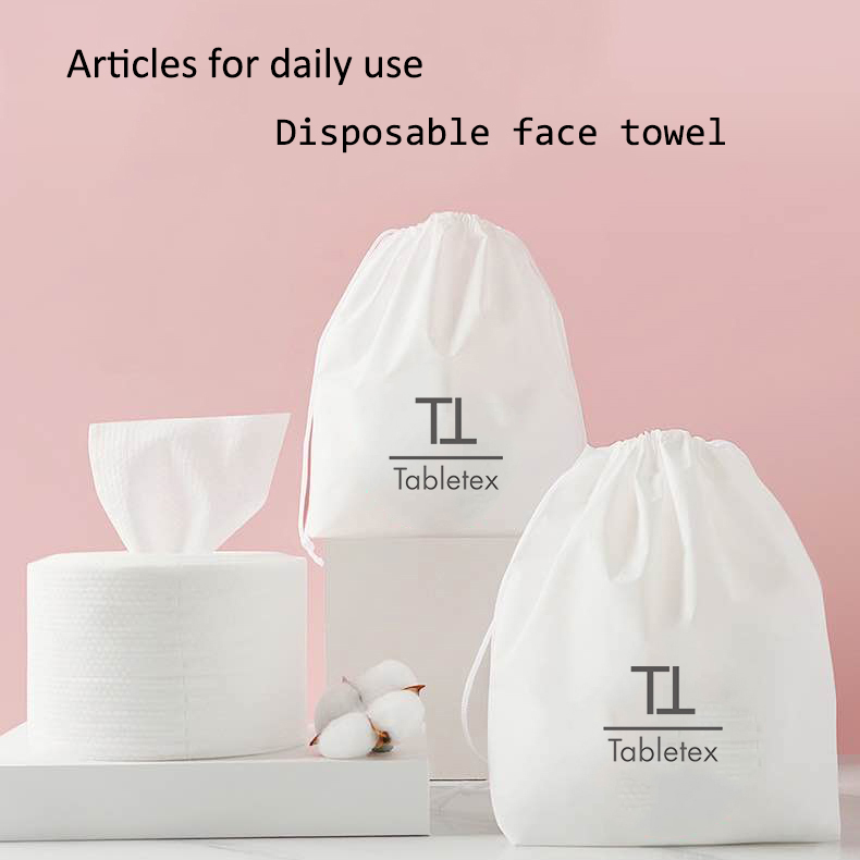 Disposable wet and dry wipe Non woven face towel facial cotton tissue makeup remover disposable washcloth cleansing dry wipes