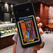 Чехол для телефона samsung Galaxy S10 Lite S10 Plus S7 S8 S9 Plus Note9 Забавный винтажный мягкий чехол на Хэллоуин с Сатаной(Китай)