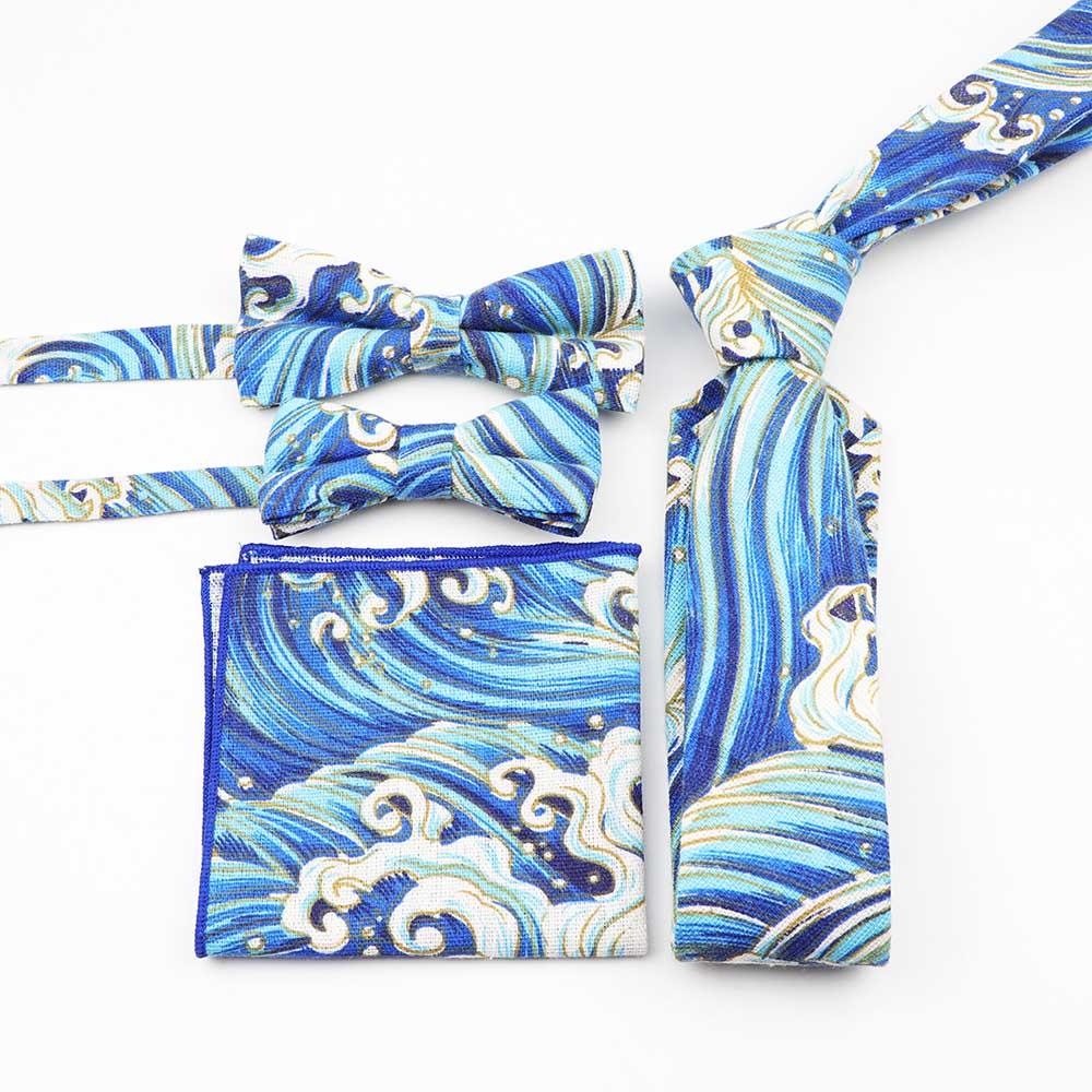 Членам семьи костюм комплект из 4 предметов, Детская Мужская и Женская галстук-бабочка нагрудный платок комплект галстук бабочка платок много с персонажами из мультфильмов
