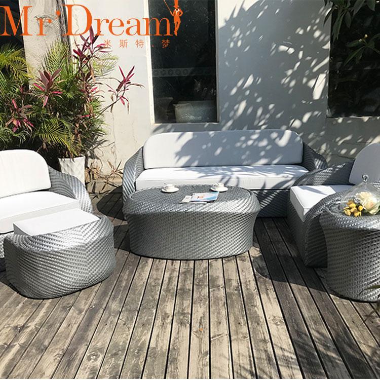 Садовая мебель, уличный диван из ротанга, комплект садовых диванов для террасы, роскошный комплект уличных диванов, мебель