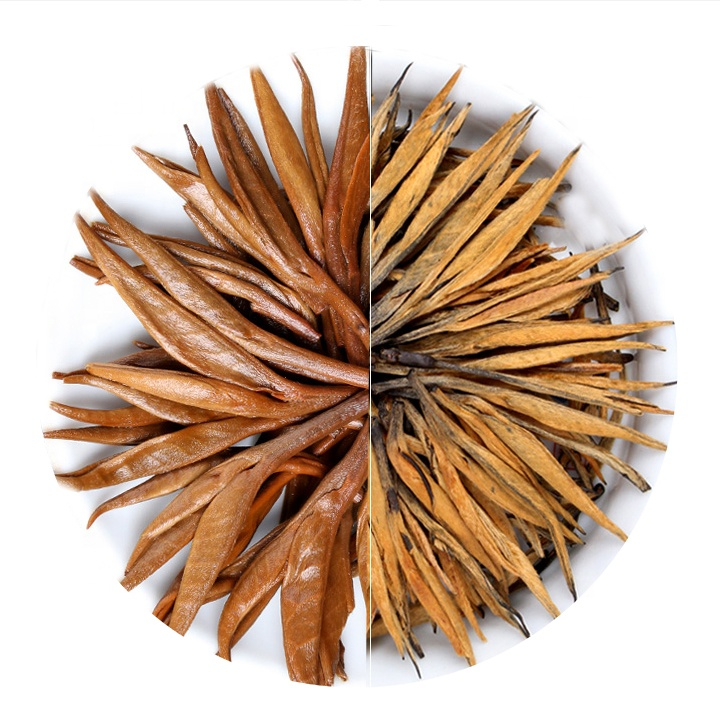Organic Natural Yunnan Golden Needle Tips Jin zhen Dian Hong Black Tea - 4uTea | 4uTea.com