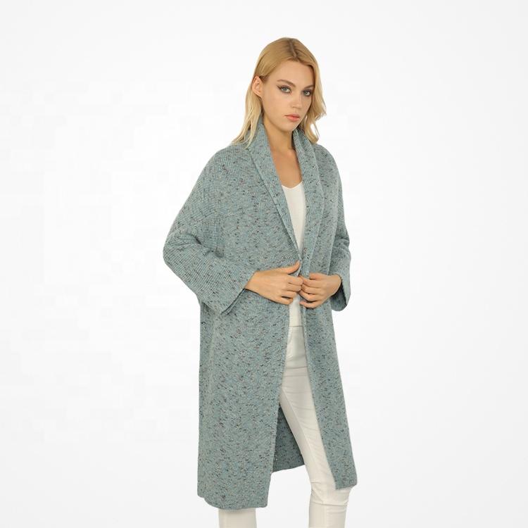 2022 Fashion New Design Knit Sweater Coat Casual Woolen Long Cardigans for Women