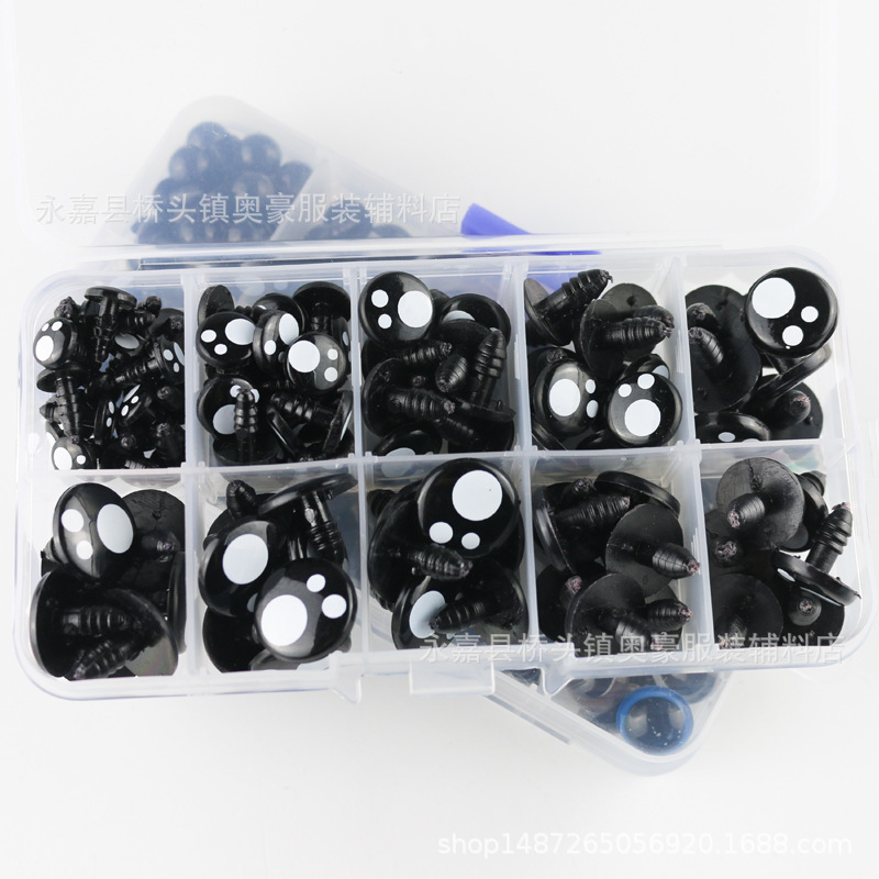 100 шт. аксессуары для игрушек пластиковые глаза вспышка глаза овальной формы в виде черных глаз