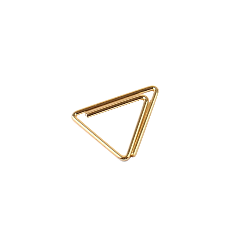 Paper Clips Golden Different Shaped Metal Stationery Skeleton Clip Gold,rose Gold Direct Factory Custom Opp+carton Ordinary