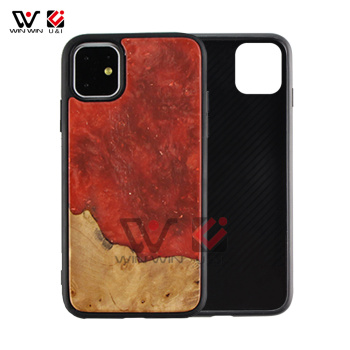 Luxury Mobile Cover Epoxy Resin Wood Phone Accessory Case For iPhone 6