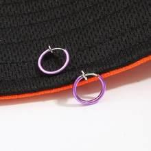 2 шт. поддельное кольцо для носа готический панк для губ, ушей, зажимов для носа поддельные перегородки Пирсинг кольцо для носа обруч для губ ...(China)