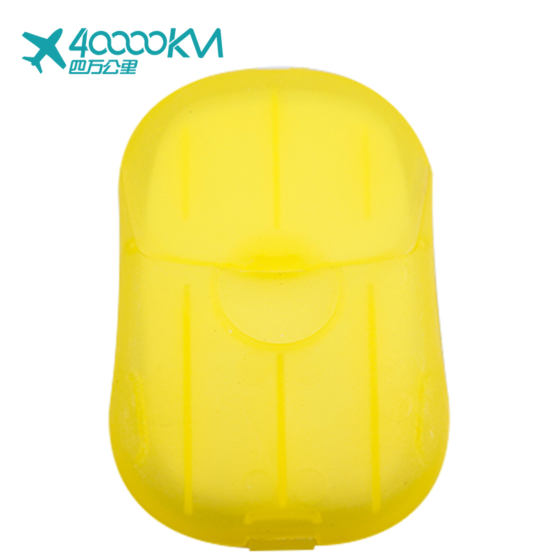 SW2014 Box Portable Mini Outdoor Travel Washing Hand Bath Clean Slice Sheets Disposable Soap Sheet Paper