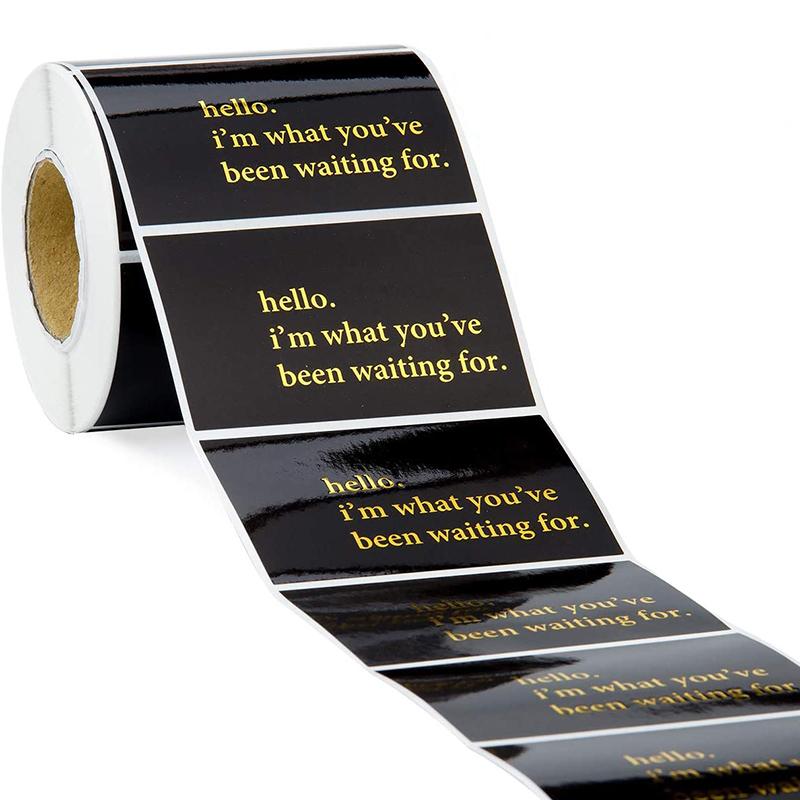 Black Vinyl Sticker Paper Rolls Custom
