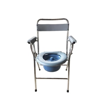 Hospital Folding Walker/Commode Chair Price/Potty Chair Adult Bedside Commode Chair with Toilet Frame Seat