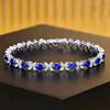 18k gold 6.15ct natural sapphire bracelet