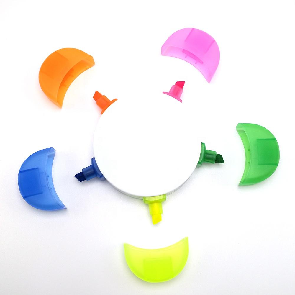 Лидер продаж 2020, креативный цветок, пятицветная ручка, Подсолнух, хайлайтер, милый цветочный стиль, лепесток с логотипом на заказ