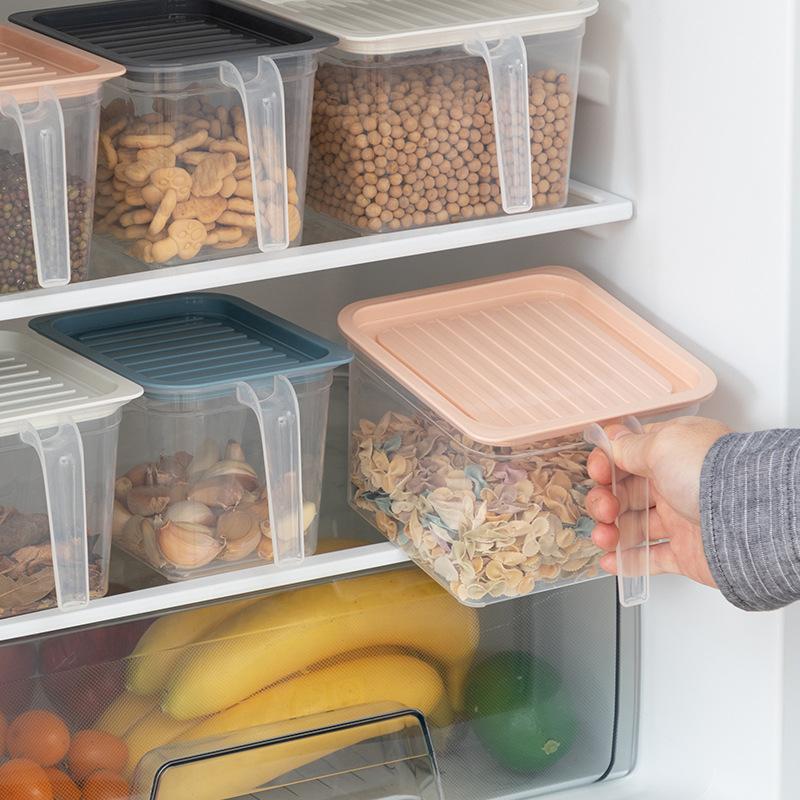 Storage Box w//Lid Kitchen Fridge Food Storage Container Cupboard Organizer Bin