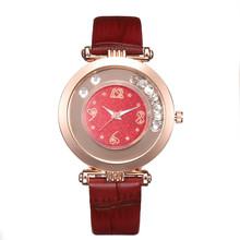 2019 модные Элитный бренд кожа кварцевые наручные часы женская одежда Стразы Часы Для женщин часы Reloj Mujer Montre Femme(Китай)