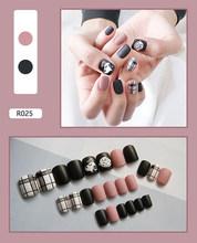 Новые Накладные ногти, Готовые накладные ногти, накладные ногти, пригодные для носки, наклейки для ногтей, водонепроницаемые, 24 штуки в упак...(Китай)