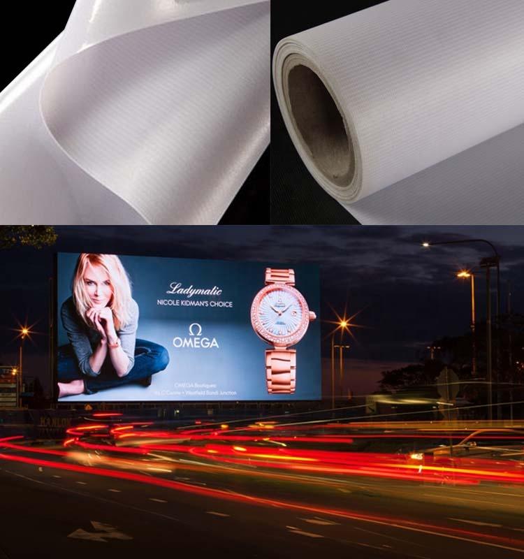 Высококачественный гибкий ламинированный баннер с экорастворителем и чернильным покрытием 440 г