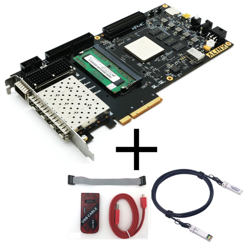 Xilinx Xc7k325 Fpga Development Board Kintex 7 K7 7325 Pcie Accelerator Card Alinx Brand Board Jtag Loader 10g Sfp Module Buy K7 Fmc Fpga Evaluation Kit Product On Alibaba Com