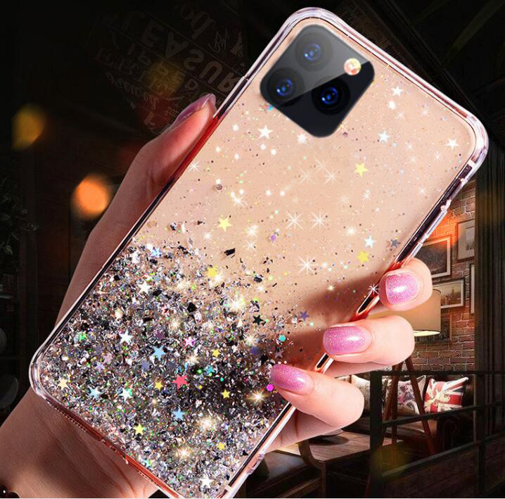 Drop Gluing Gold Foil Soft Tpu Case For Iphone 12 11 Pro X 6 6s 7 8 Plus Xr Xs Max Phone Bling Star Skin Cover Back Coque - Buy 2020 New Fashion Shiny ...
