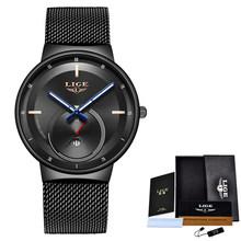Женские кварцевые часы LIGE, Кварцевые водонепроницаемые часы с сеточкой, 2020(Китай)