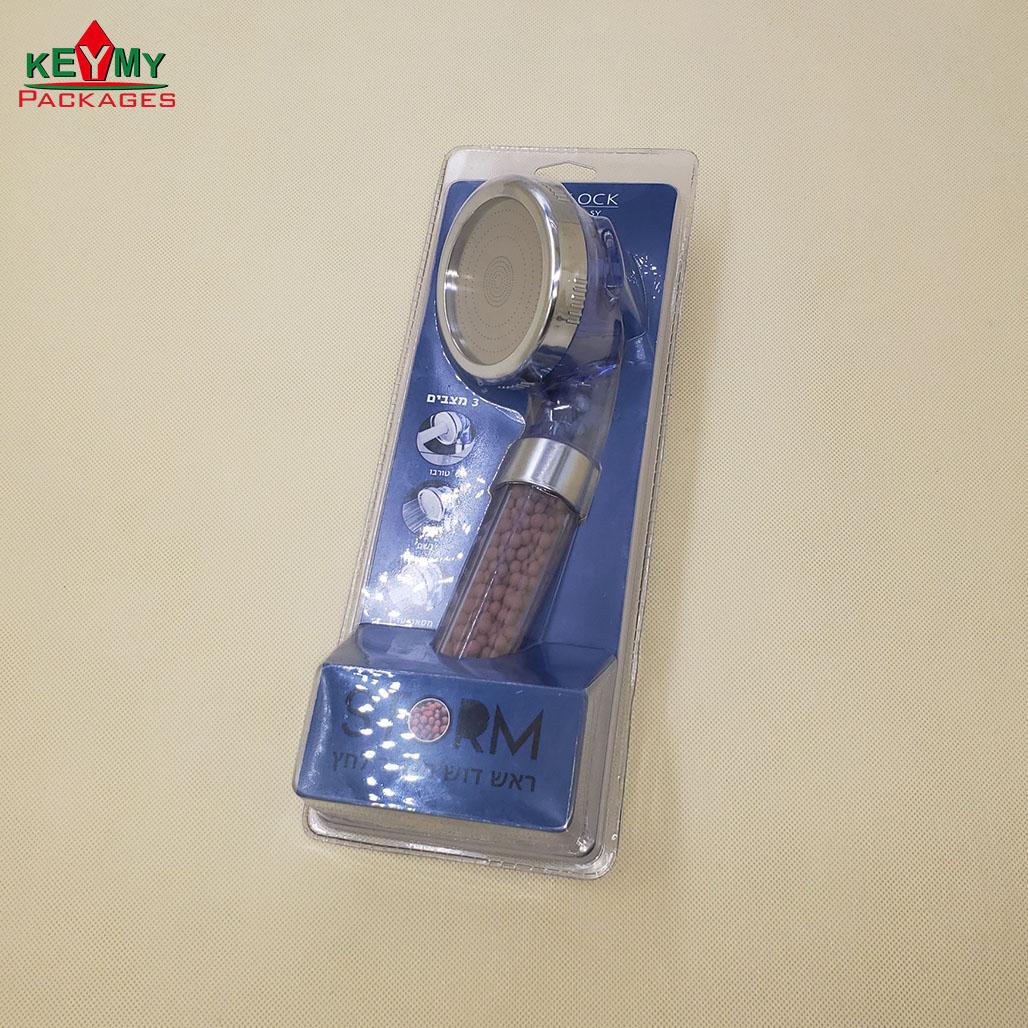 Индивидуальная блистерная упаковка для душевой лейки с завода в Шэньчжэне
