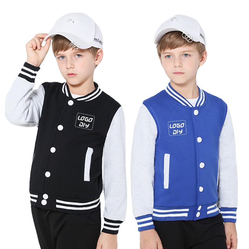 School Sport Sweatshirt children Baseball Jackets custom embroidered logo Kids Varsity Jacket