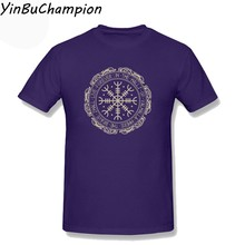 Мужская футболка с графической печатью компас викингов Vegvisir, символ, руководство и защита, Camiseta, Мужская футболка большого размера 3XL(Китай)
