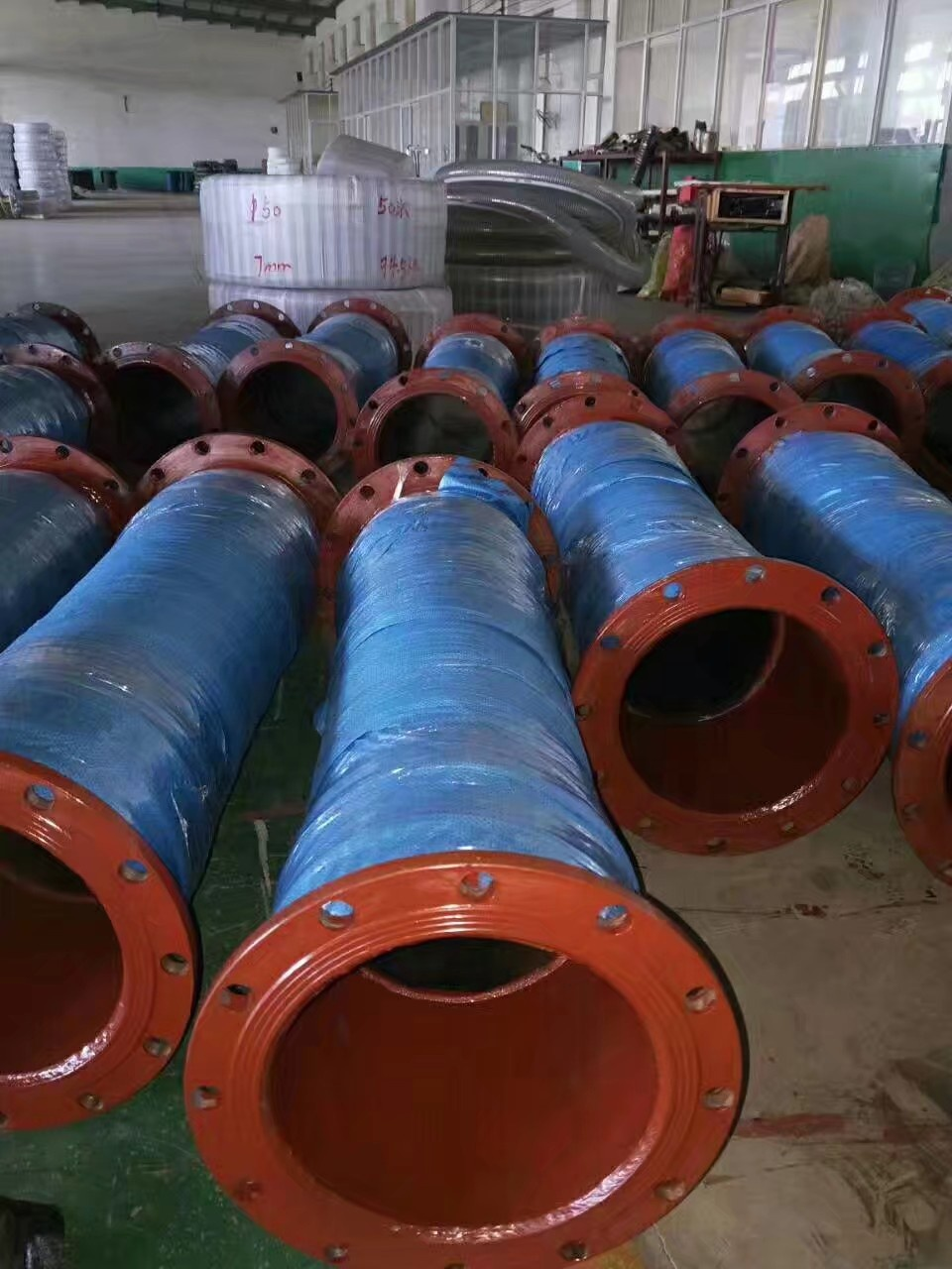 Manufactures Steel flange nipple Dredging / Water Suction Dredge Hose