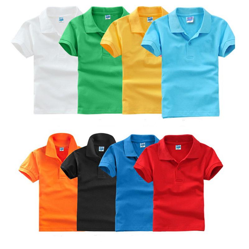 Сделаны из хлопка для маленького мальчика, летняя детская футболка-поло с отложным воротником выполненный по индивидуальному заказу рубашка с принтом с вышивкой для детей