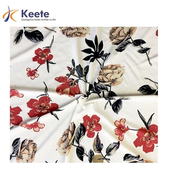 High quality custom digital printed 95% polyester and 5% soft spandex fabric for Garment,Suit