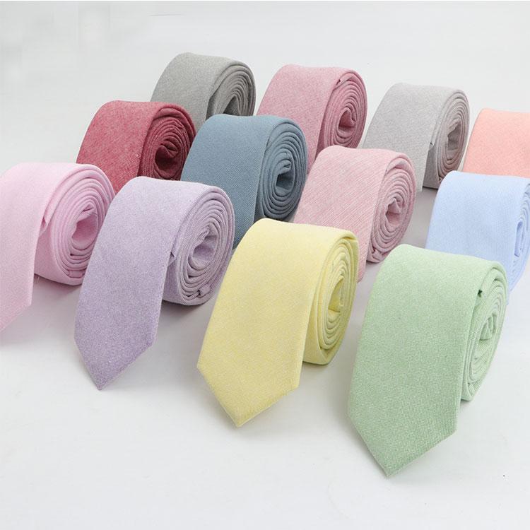 Однотонный галстук шириной 6 см, хлопковый чистый красочный тонкий галстук для свадебных галстуков, тонкий галстук для жениха для мужчин