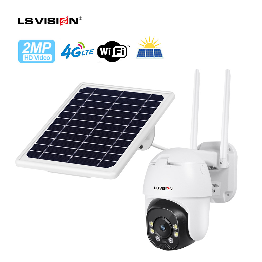Low Power Consumption 1080p Infrared 4G Dome Solar Powered PTZ Camera 64gb Outdoor Wifi IP Battery Powered CCTV Wireless Camera