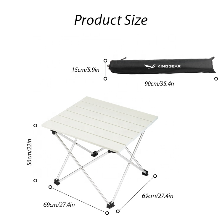 Легкий портативный складной алюминиевый стол для рыбалки кемпинга пикника