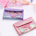 Bag Sequins Gulidd Laser Cosmetic Bag Sequins Stitching PVC Quicksand Pink Makeup Bag
